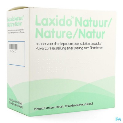 Laxido Natuur Zakjes 20 X 13,7g