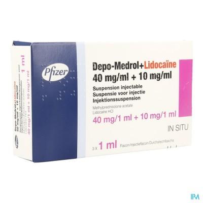 Depo-medrol Lidoc 40mg Vial 40mg/ml 3 X 1ml