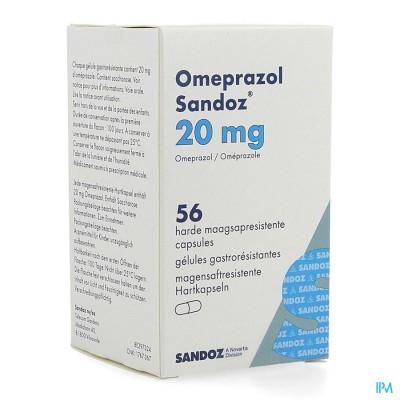 Omeprazol Sandoz Caps Enter 56 X 20mg