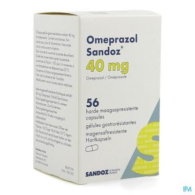 Omeprazol Sandoz Caps Enter 56 X 40mg