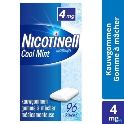Nicotinell Cool Mint 4mg Kauwgom 96