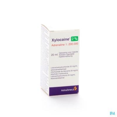 Xylocaine 2% Adrenaline 1:200 000 Sol Inj 20ml