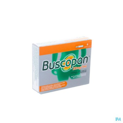 Buscopan Amp 6 X 20mg/1ml