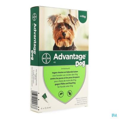Advantage 40 Honden <4kg 4x0,4ml