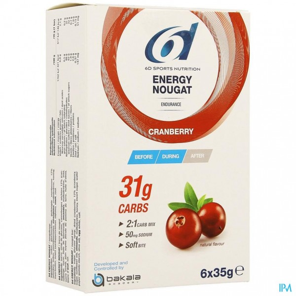6d Energy Nougat Cranberry 6 X 35g