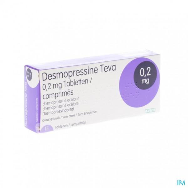 Desmopressine Teva 0,2mg Tabl 15 X 0,2mg